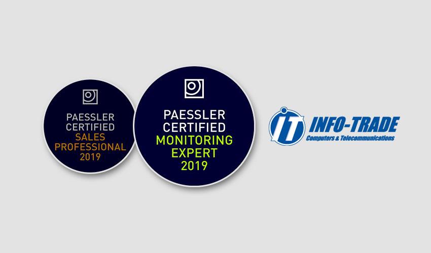 Πιστοποίηση Paessler Certified Monitoring Expert για την INFO-TRADE
